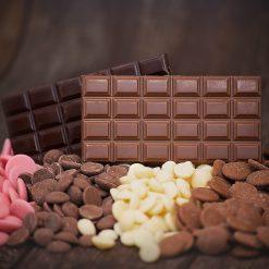 Sjokoladeplater, pletter & slikkepinner